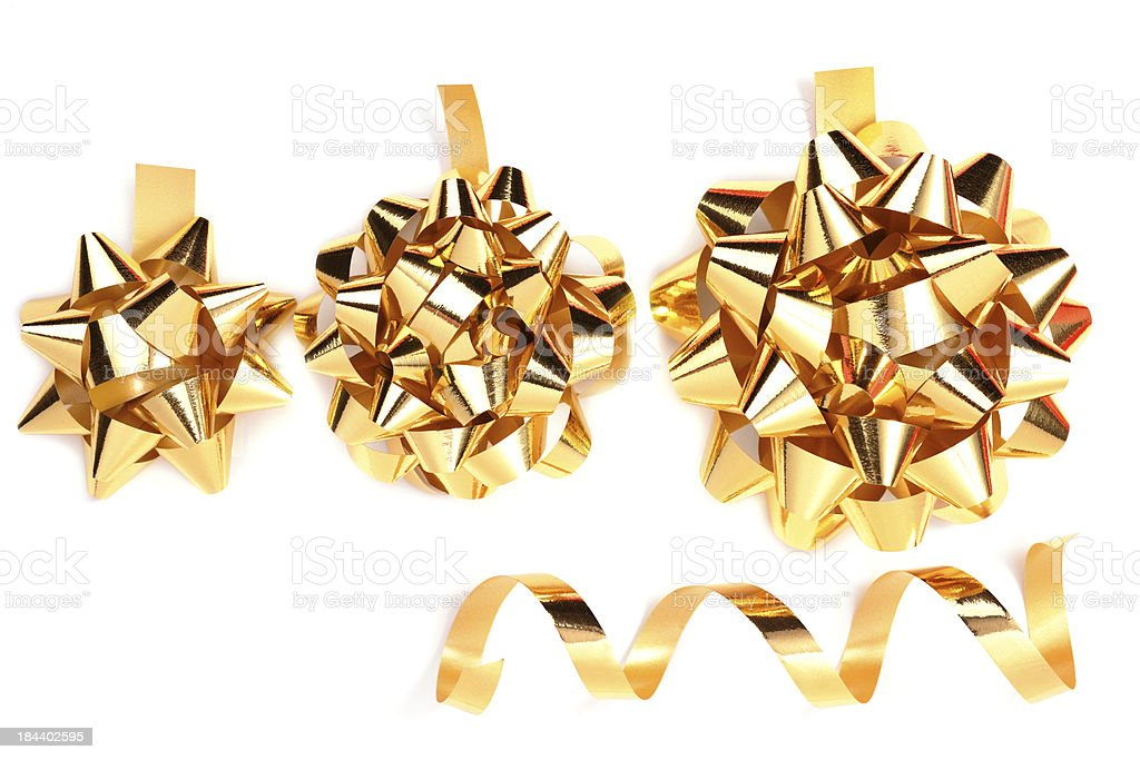 Gold Present Bows royalty-free stock photo