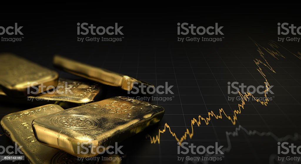 Gold Price, Commodities Investment - foto de acervo