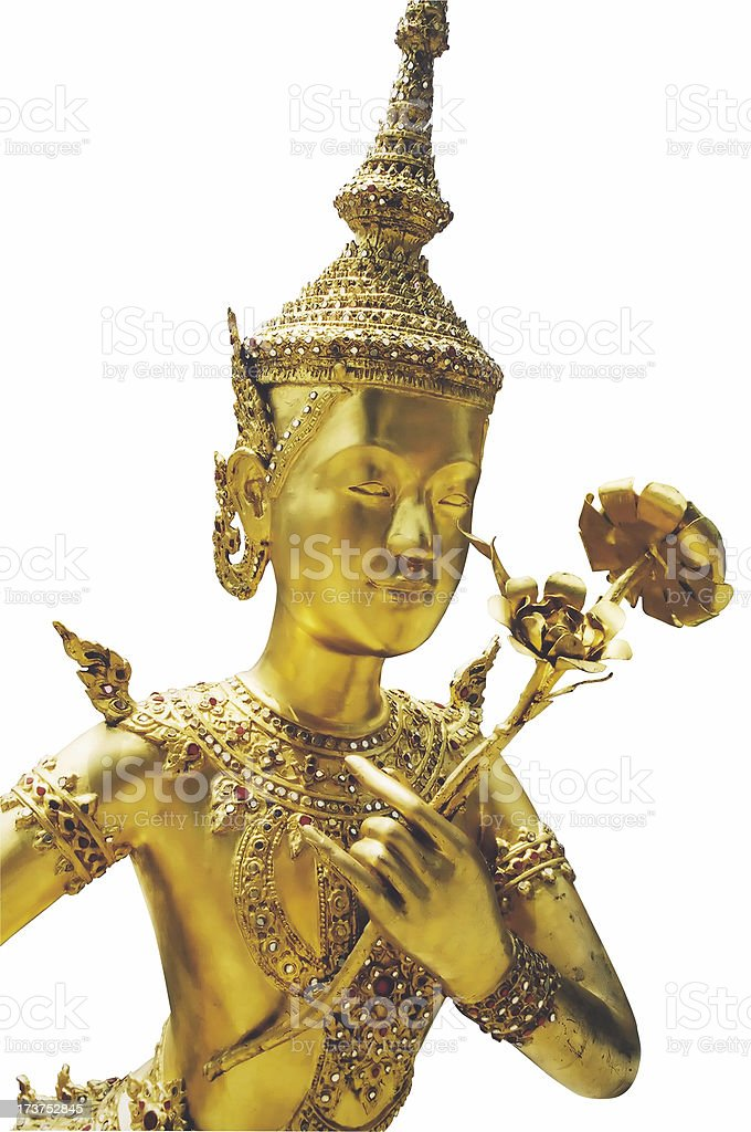 Gold Princess (with path) royalty-free stock photo