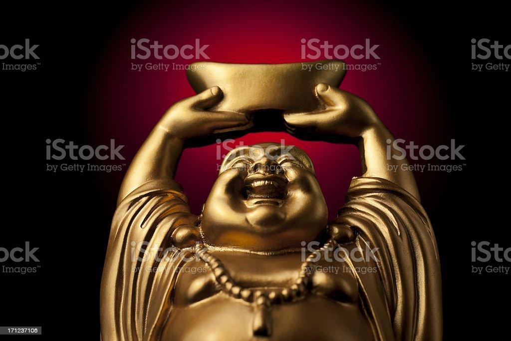 Gold Prosperity Buddha Maitreya stock photo