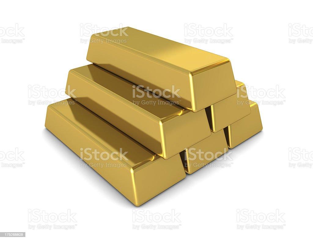 Gold Pyramid royalty-free stock photo