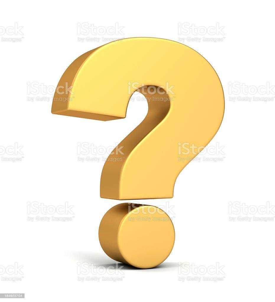 Gold question mark foto