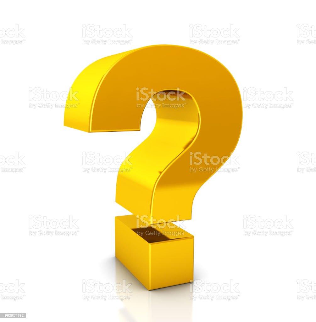 Gouden vraag Mark symbool foto