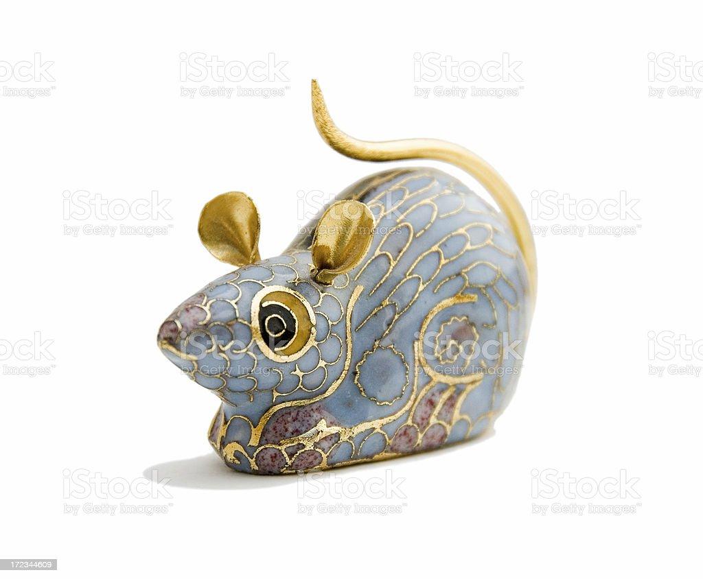 Gold rat figurine royalty-free stock photo