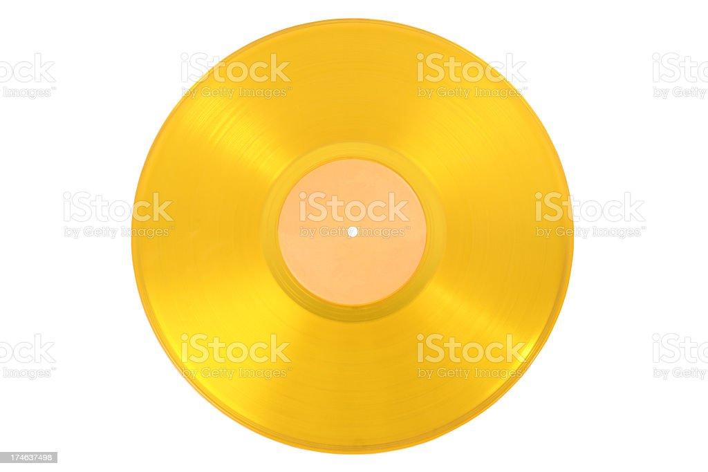 Gold record stock photo