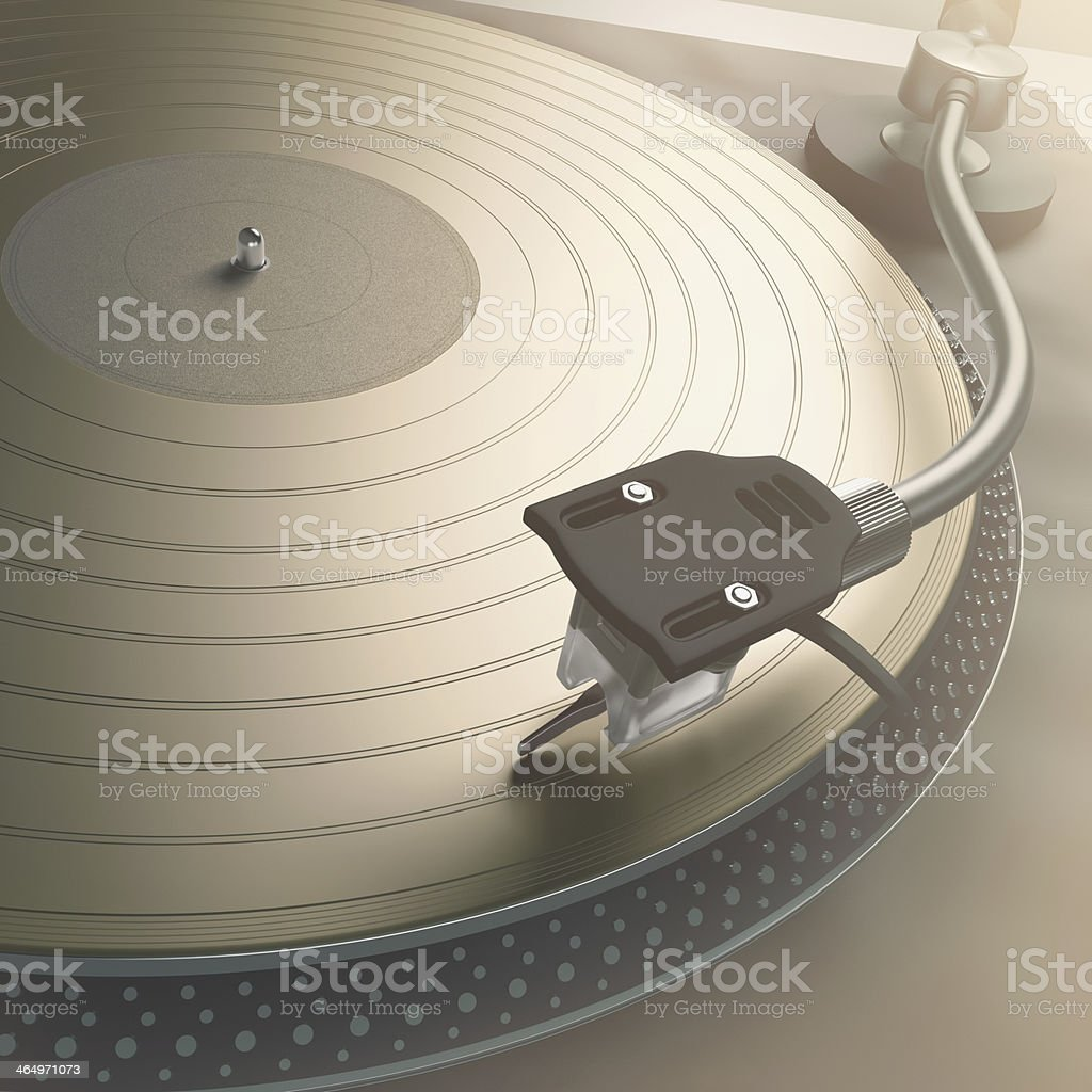 Gold Records stock photo