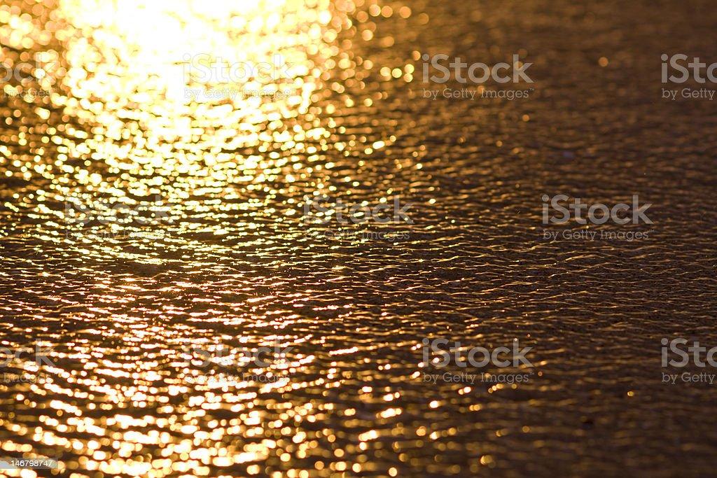 Gold Reflection stock photo