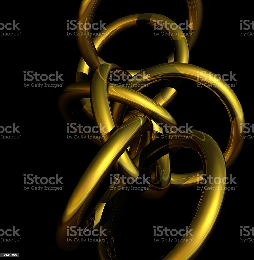 gold render royalty-free stock photo