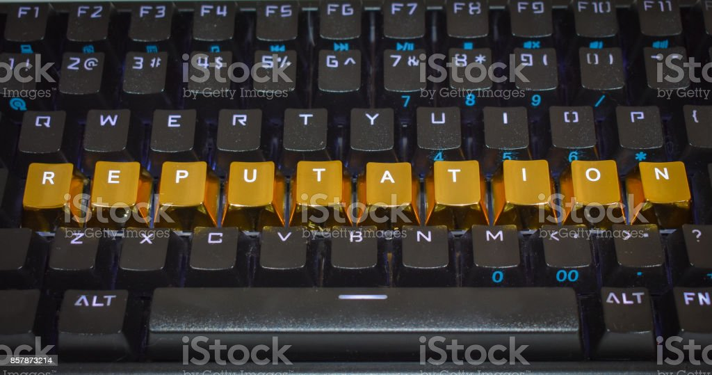 Gold Reputation stock photo