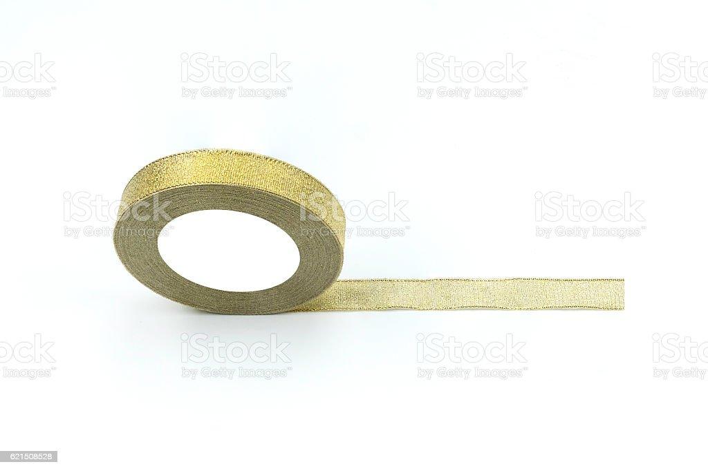 Gold ribbin isolated Lizenzfreies stock-foto