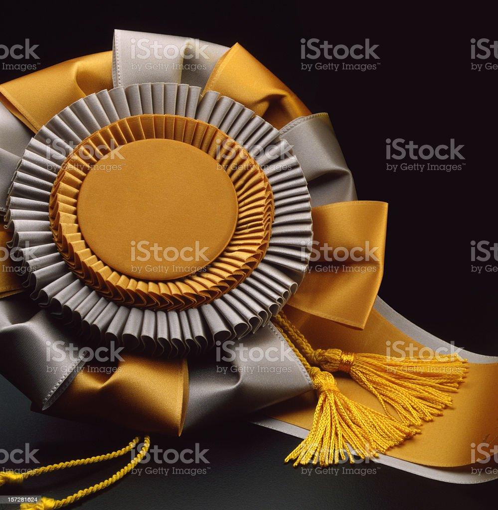 Gold ribbon award royalty-free stock photo