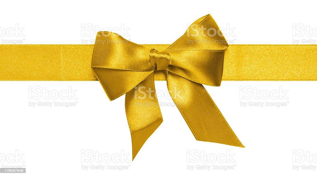 gold ribbon bow stock photo