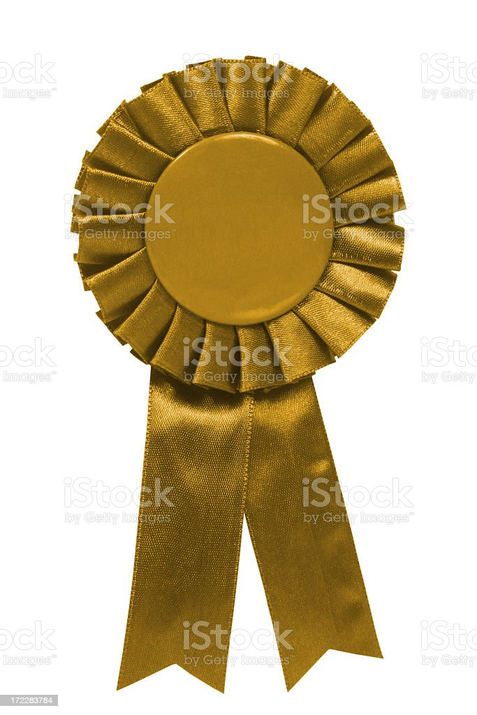 Gold ribbon royalty-free stock photo