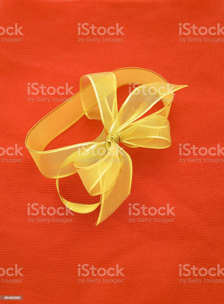 Gold Ribbon royalty-free stock photo