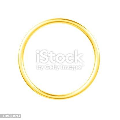1094574474 istock photo Gold ring isolated on white background. 1184263241