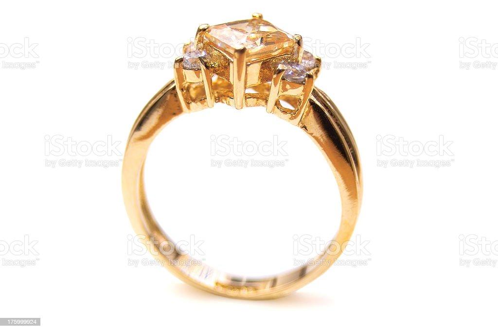Gold Ring Macro royalty-free stock photo