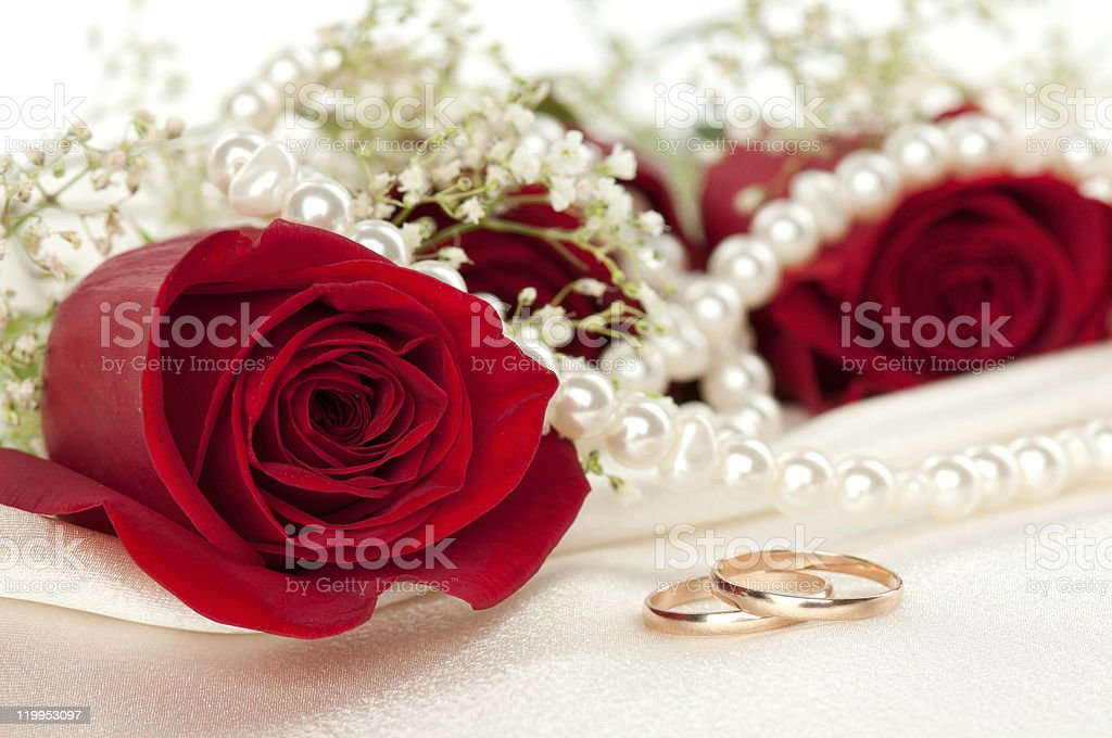 gold rings stock photo