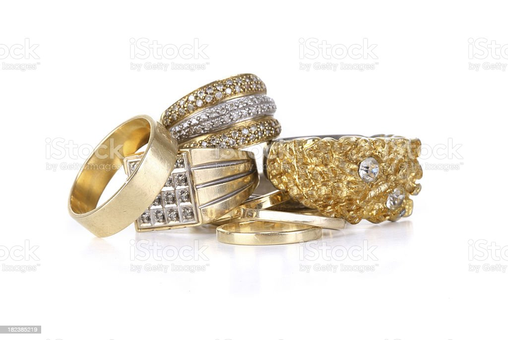 Gold Rings royalty-free stock photo