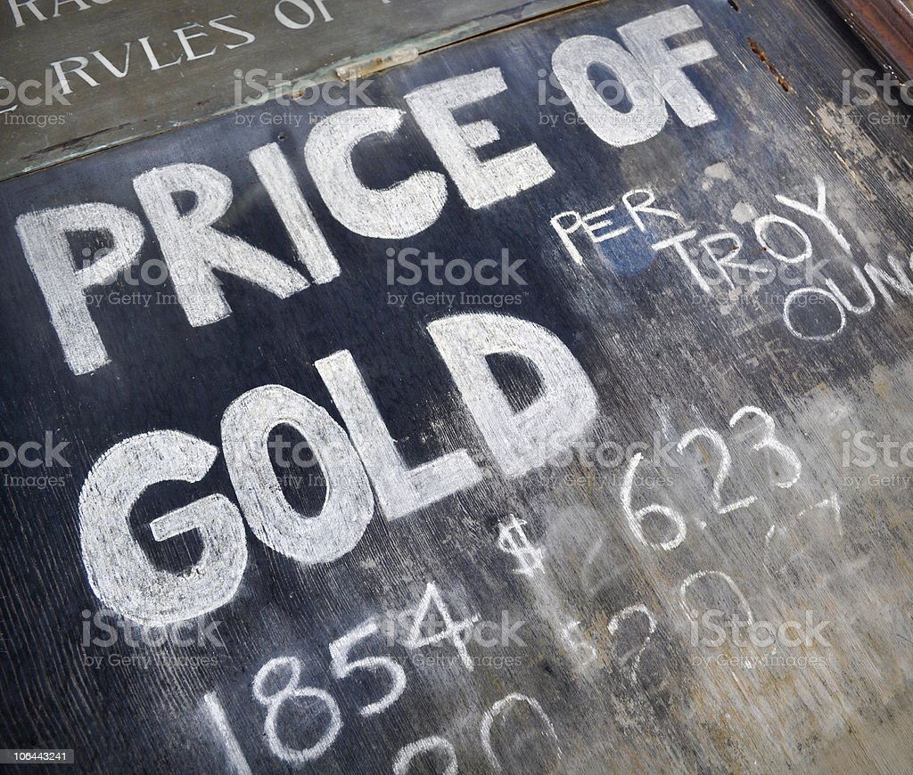 Gold Rush Chalkboard Sign royalty-free stock photo