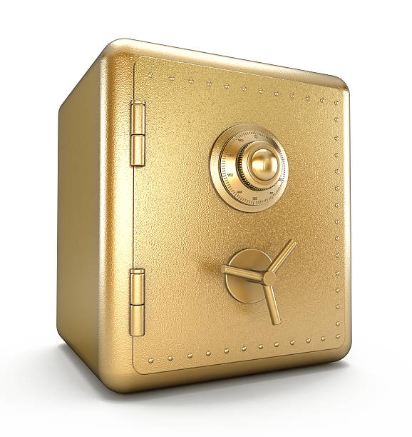 gold safe - safe stock-fotos und bilder