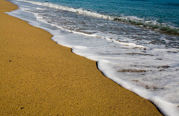 Gold sands stock photo