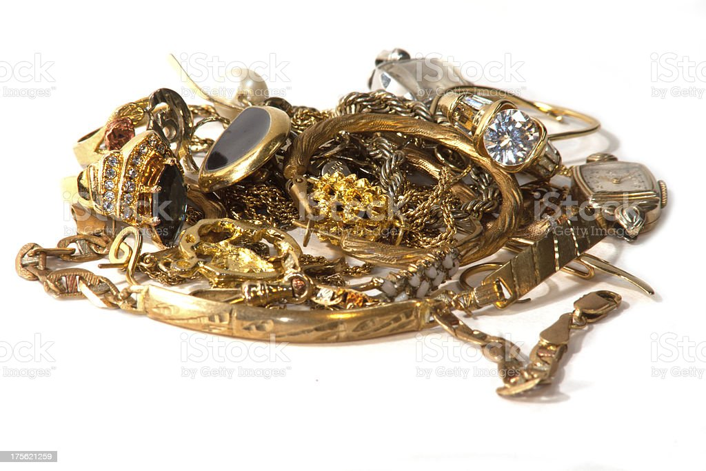 Gold scrap stock photo