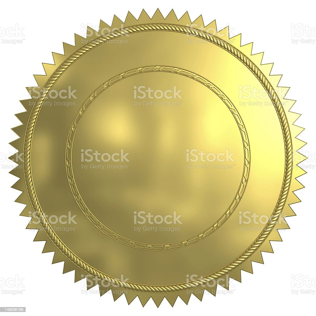 Gold Seal royalty-free stock photo