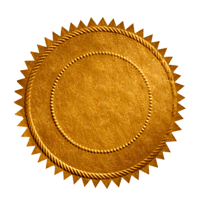Close up of Gold Seal