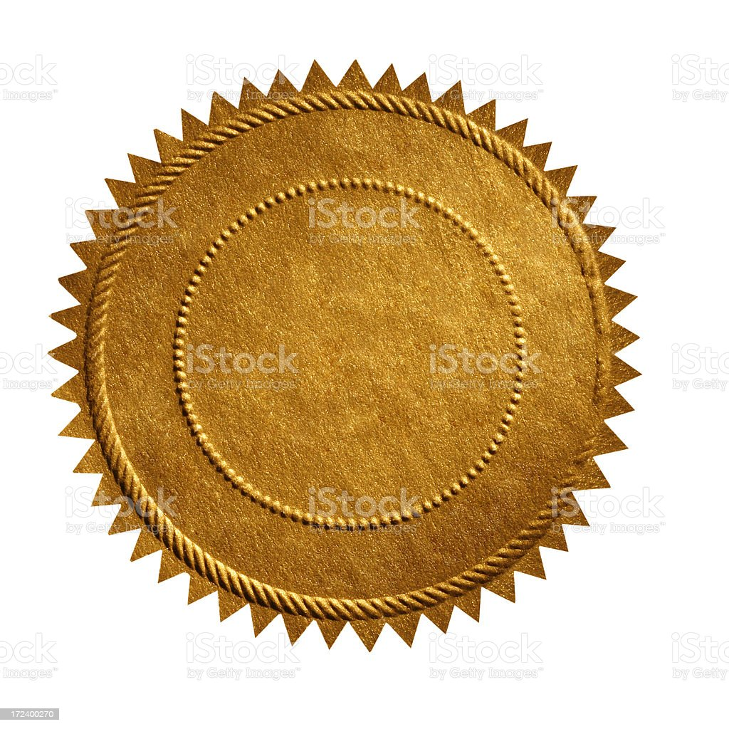 Gold Seal stock photo