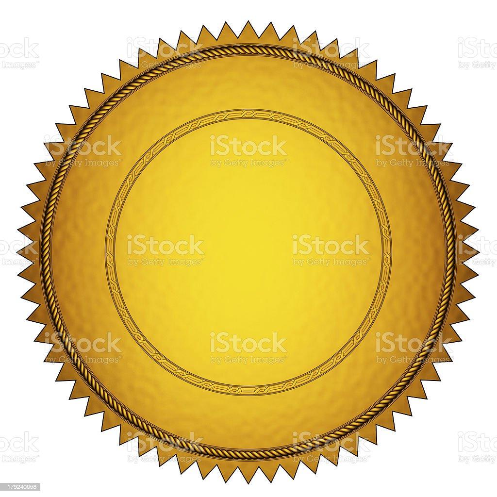 Gold Seal royalty-free stock photo