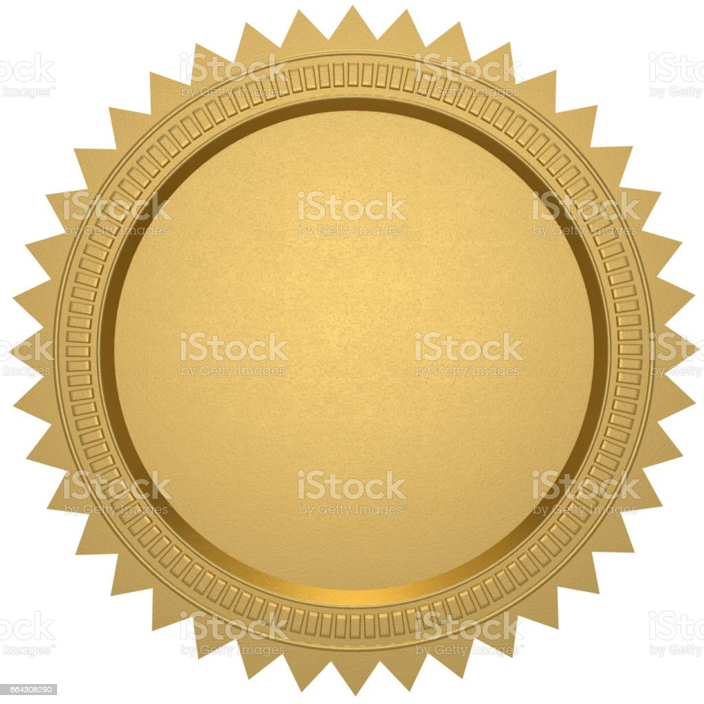 gold seal - foto stock
