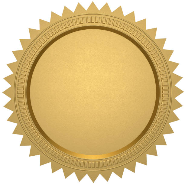 gold seal - certificate stock photos and pictures