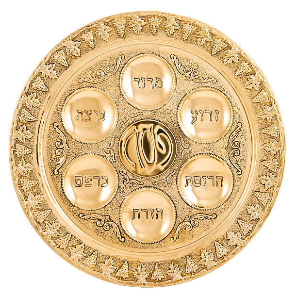 Gold Seder Plate  seder plate stock pictures, royalty-free photos & images