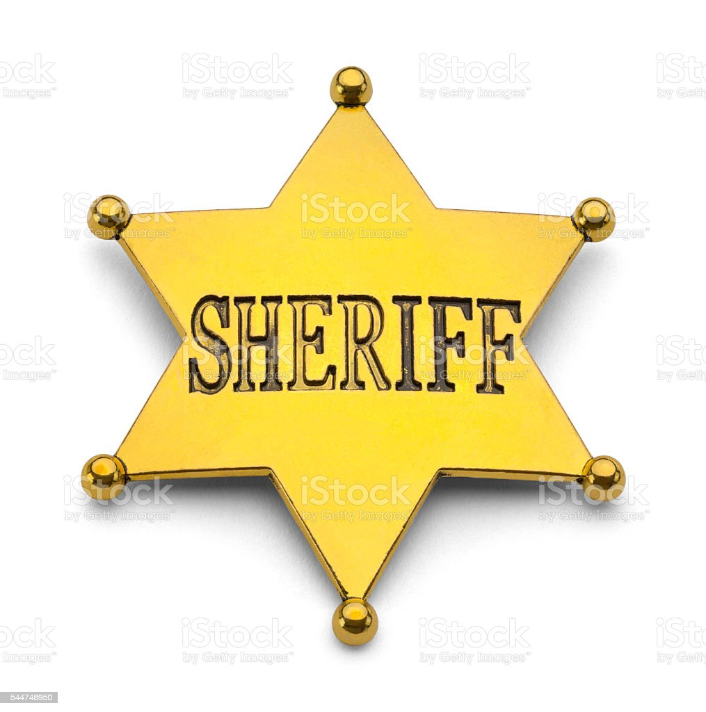 Gold Sheriff Badge Stock Photo - Download Image Now - iStock