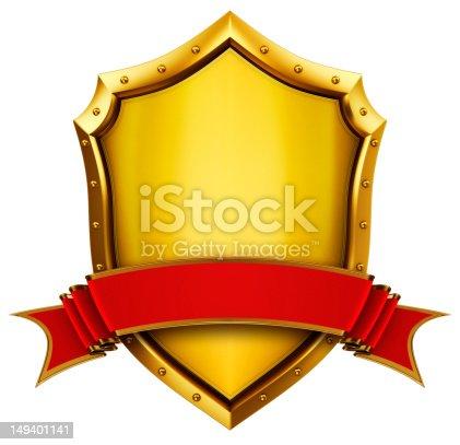 istock Gold shield 149401141