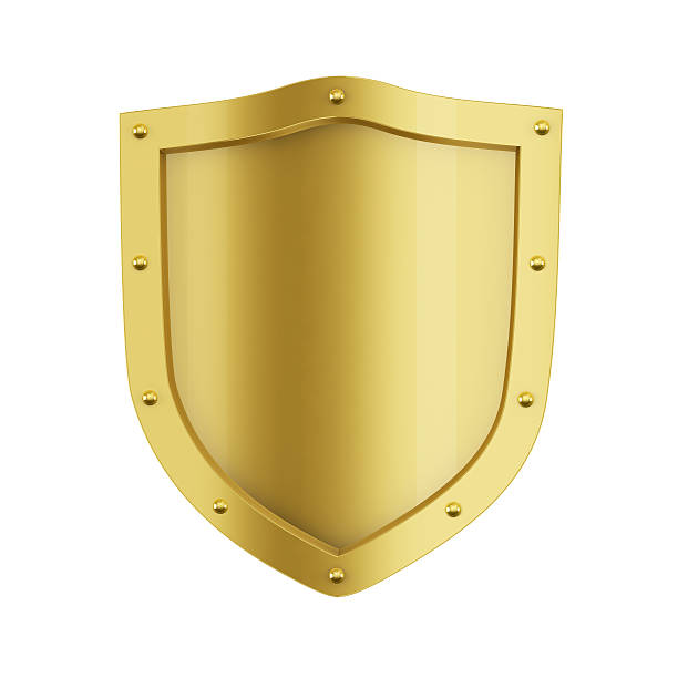 Gold Shield stock photo