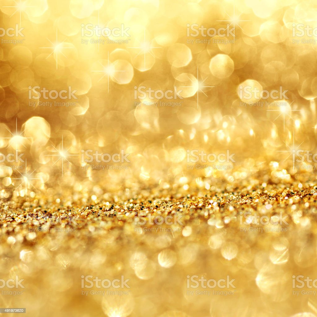 Gold shimmering background stock photo