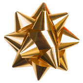 istock Gold shiny bow for christmas decoration 175270440