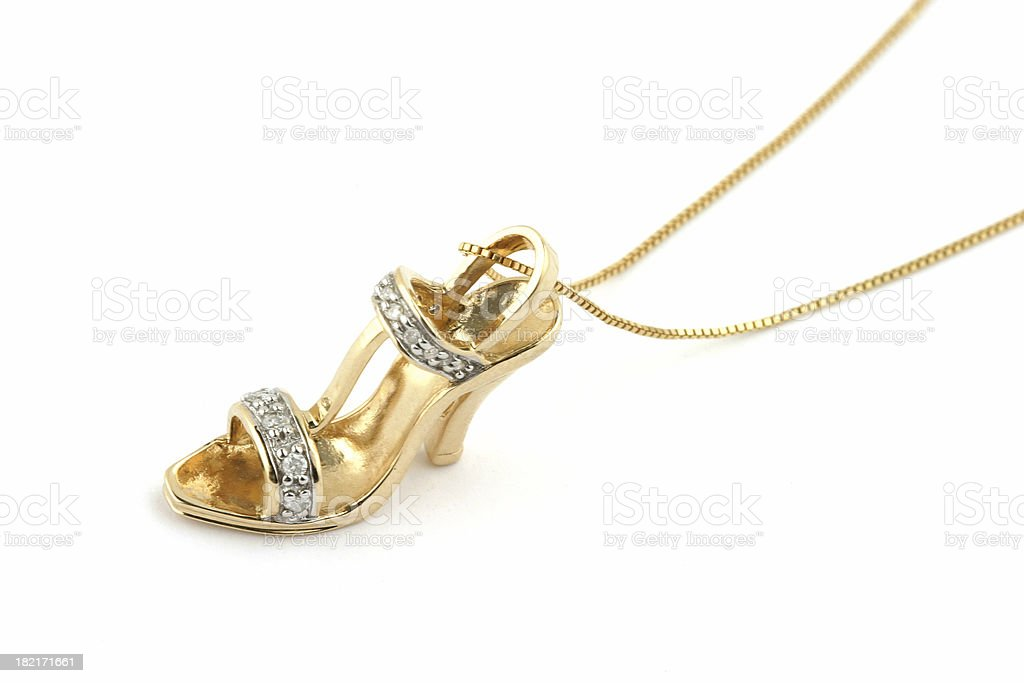Gold Shoe Pendant royalty-free stock photo