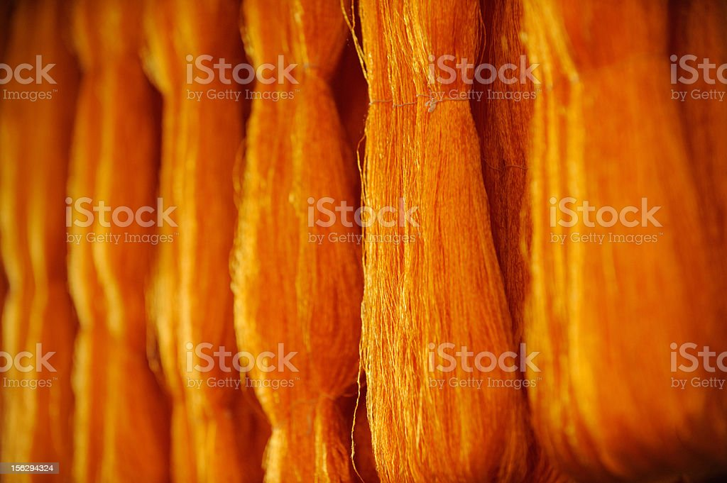 Gold Silk string stock photo