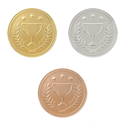 istock Gold, silver, bronze medals set 867416872