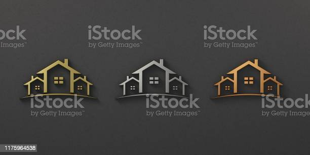 Gold silver bronze real estate houses logo 3d rendering illustration picture id1175964538?b=1&k=6&m=1175964538&s=612x612&h=e3h 6vnb2pvhb9xy3mnkxeui0q1t9 b3nblusfmb0b4=