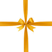 istock gold simple tied ribbon bow composition 453430649