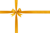 istock gold simple tied ribbon bow composition 457855361