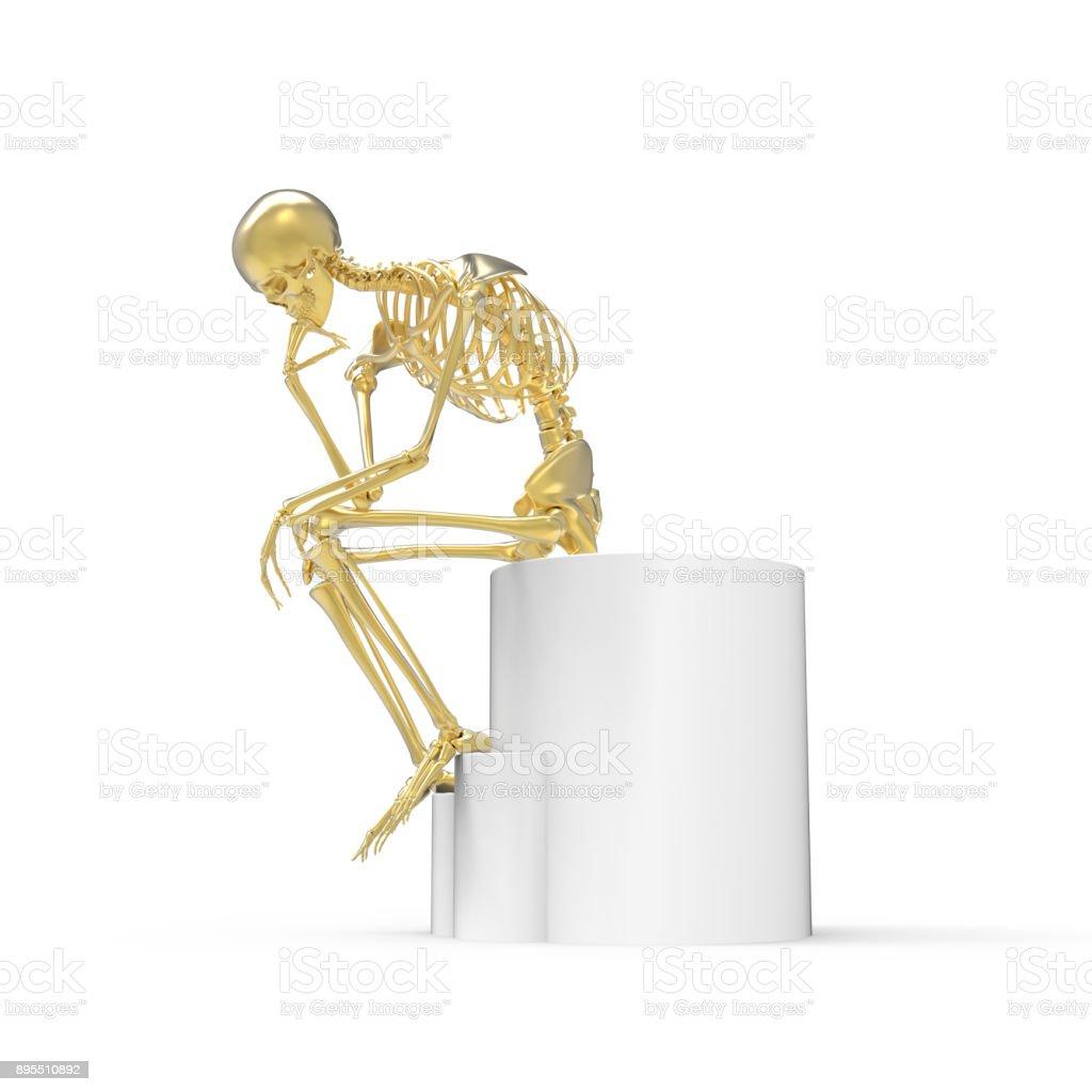 Gold Skelett Sitzende Pose Stock-Fotografie und mehr Bilder von ...