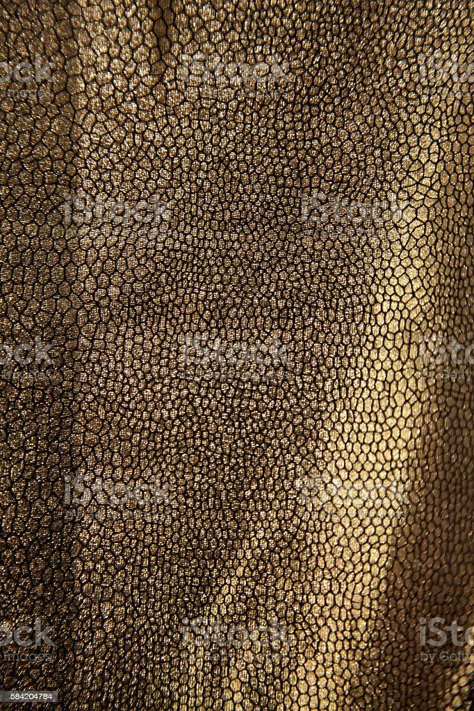 gold skin animal alien dinosaur reptile monster pattern surface leather stock photo