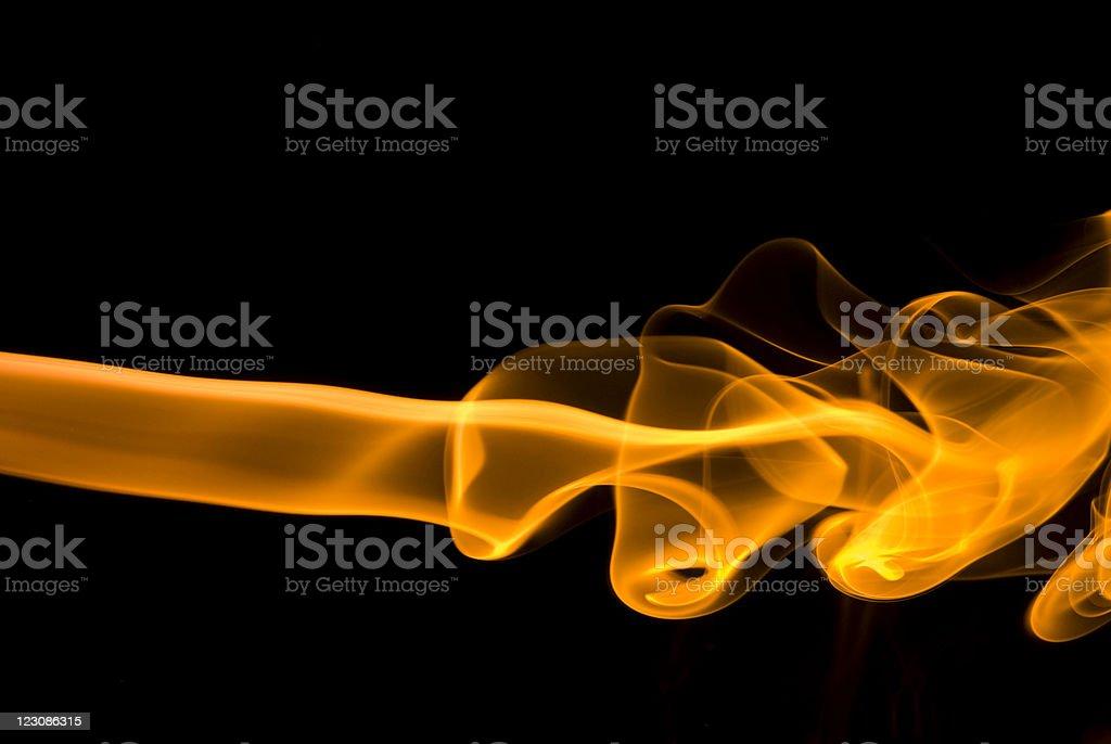 Gold Smoke On Black stock photo