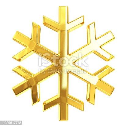 istock Gold Snowflake 1029517758