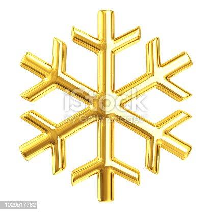 istock Gold Snowflake 1029517762