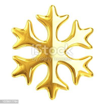 istock Gold Snowflake 1029517764